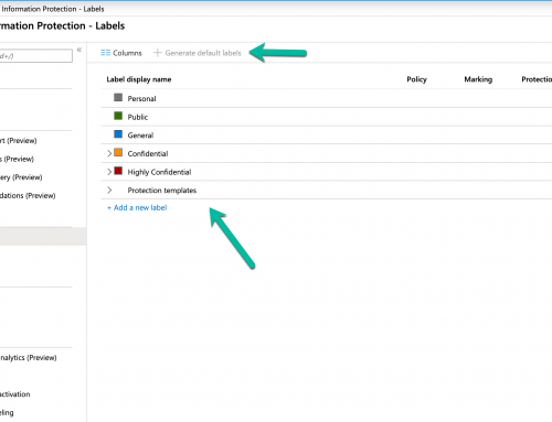 Generate Default Azure Information Protection AIP Labels
